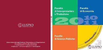 Libera Università degli Studi - LUSPIO - degli studi per l'innovazione ...