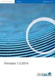 Hinnasto 1.6.2013 - Pipelife International
