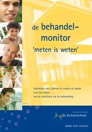 de behandel - monitor 'meten is weten' - Dr. Leo Kannerhuis