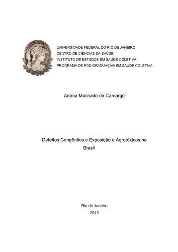 Ariana Machado de Camargo Defeitos Congênitos e ... - IESC/UFRJ