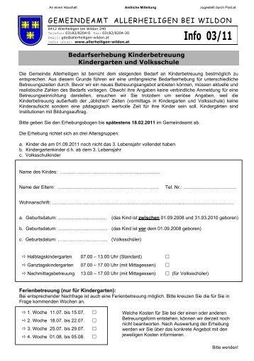 Gemeinde-Info 03/2011 - Gemeinde Allerheiligen bei Wildon