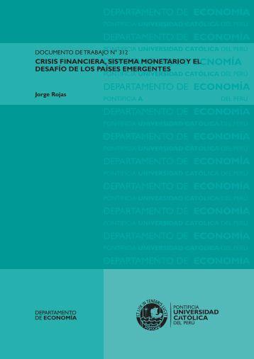 Crisis financiera, sistema monetario y el desafío de los países ...