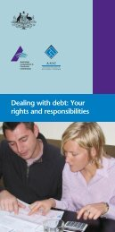 Dealing with debt: Your rights and responsibilities - Pink