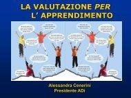 La valutazione per l'apprendimento - Liceo Statale C. Montanari