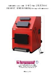 Solid fuel hot water boiler TKK3 max 100-300 KW ... - Termomont
