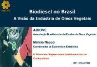 Biodiesel - ABIOVE - Associação Brasileira das Indústrias de Óleos ...