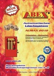 zum Prospekt - Abex - Feuerlöschgerätebau GmbH