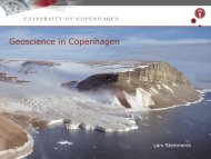 Formalised cooperation between: GEUS, University of ... - Force