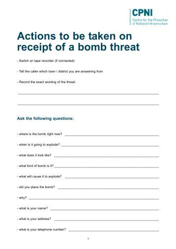 bomb threat paper At least three schools here received bomb threats on tuesday, sending a wave of panic among students, teachers and parents the bomb threats came four days after a powerful blast ripped through.