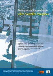 Mémoires audiovisuelles des villes nouvelles françaises - Centre de ...