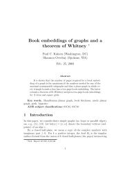 Book embeddings of graphs and a theorem of Whitney ∗ - CiteSeerX