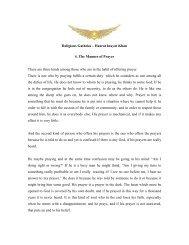 Religious Gatheka – Hazrat Inayat Khan 4. The Manner of Prayer ...