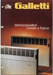 Termoconvettori Galletti Condor e Falcon - Certened