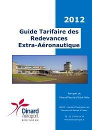 Redevances extra-aéronautiques - Aéroport Dinard