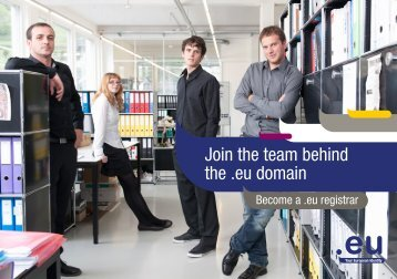 Join the team behind the .eu domain - EURid