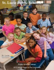 2012 Annual Report to the Community - St. Lucie County School ...