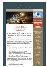 March 2009 - The Dispute Board Federation