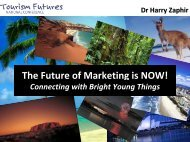 The Future of Marketing is NOW! - Tourism Futures