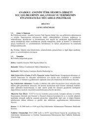 türkiye iş bankası a - Anadolu Sigorta