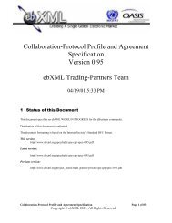 EbXML Collaboration-Protocol Profile and Agreement Specification ...