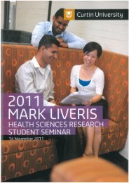 Faculty Of Health Science The Mark Liveris Health Science