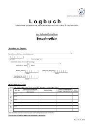 Logbuch Zusatz-WB Sexualmedizin - Ärztekammer Berlin