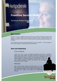 Frontline Service Desk - LanSoft A/S