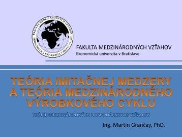 Imitačná medzera - Fakulta medzinárodných vzťahov - Ekonomická ...