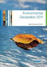 Environmental Declaration 2011 - Sappi