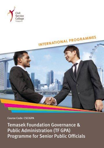 Programme for Senior Public Officials - Civil Service College