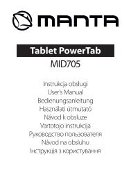 Instrukcja obsługi - Manta