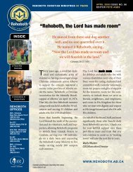 """""""Rehoboth, the Lord has made room"""" - Rehoboth Christian Ministries"""