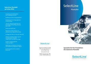SelectLine Plantafel Prospekt - Sartissohn GmbH