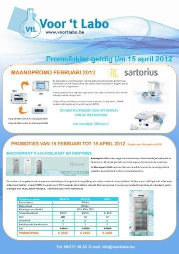 Promofolder geldig t/m 15 april 2012 MAANDPROMO ... - t Labo