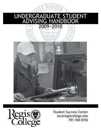 undergraduate student advising handbook - Regis College