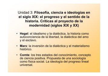 Unidad 3: Filosofía, ciencia e ideologías en el ... - Hecho Histórico