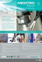 Téléchargez la brochure des conférences - MEDTEC France
