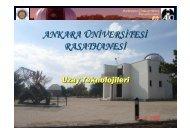 Uzay Teknolojileri - Ankara Üniversitesi Gözlemevi