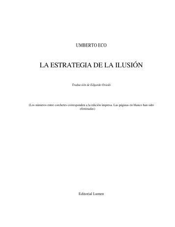Eco--Umberto---La-estrategia-de-la-ilusi-n