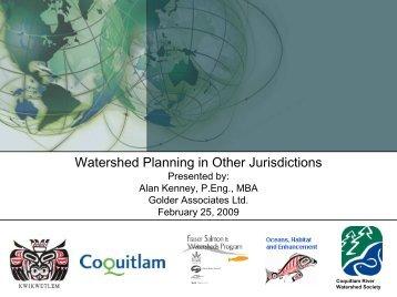 CRWS Phase II Presentation Feb 2009 watershed planning