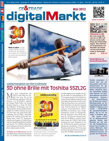 3D ohne Brille mit Toshiba 55ZL2G