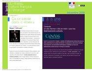 La lettre d'information du Réseau culturel français à ... - LatitudeFrance