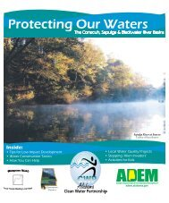 Protecting Our Waters - Alabama Clean Water Partnership