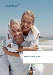 Retirement Savings Plan Brochure - Pensionskasse