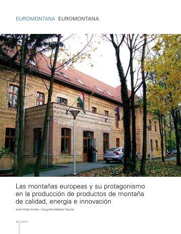 Las montañas europeas y su protagonismo en la producción de ...
