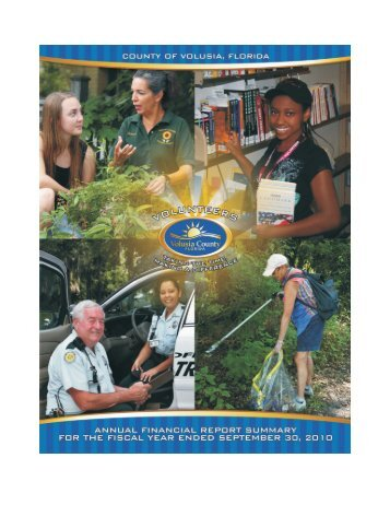 PAFR 2010 - Volusia County Government