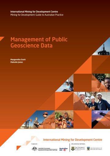Management-of-Public-Geoscience-Data