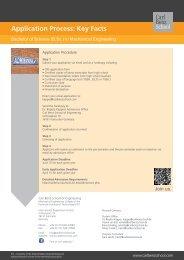 Application Process: Key Facts - the Carl Benz School - KIT