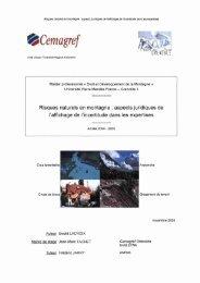 Risques naturels en montagne - INTERREG Forêts de Protection