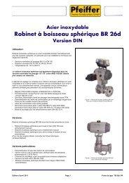 Robinet à boisseau sphérique BR 26d